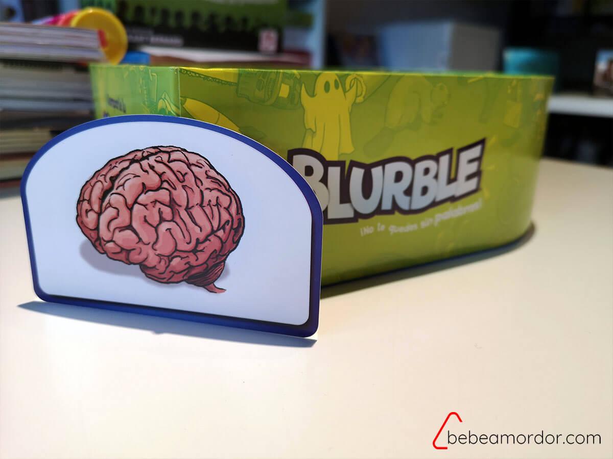 caja y tarjeta juego Blurble de palabras