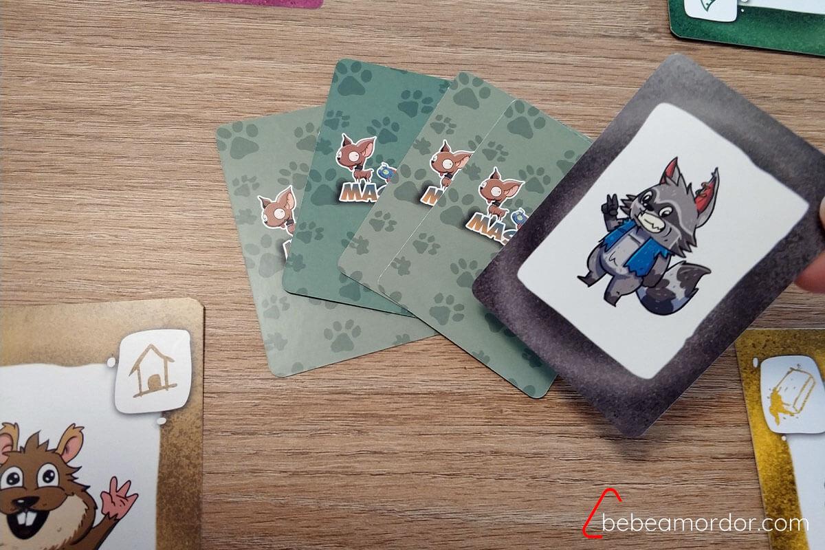 mapache del juego de mesa más Mascotas