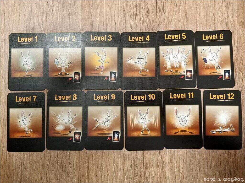 cartas de niveles juego de mesa The Mind
