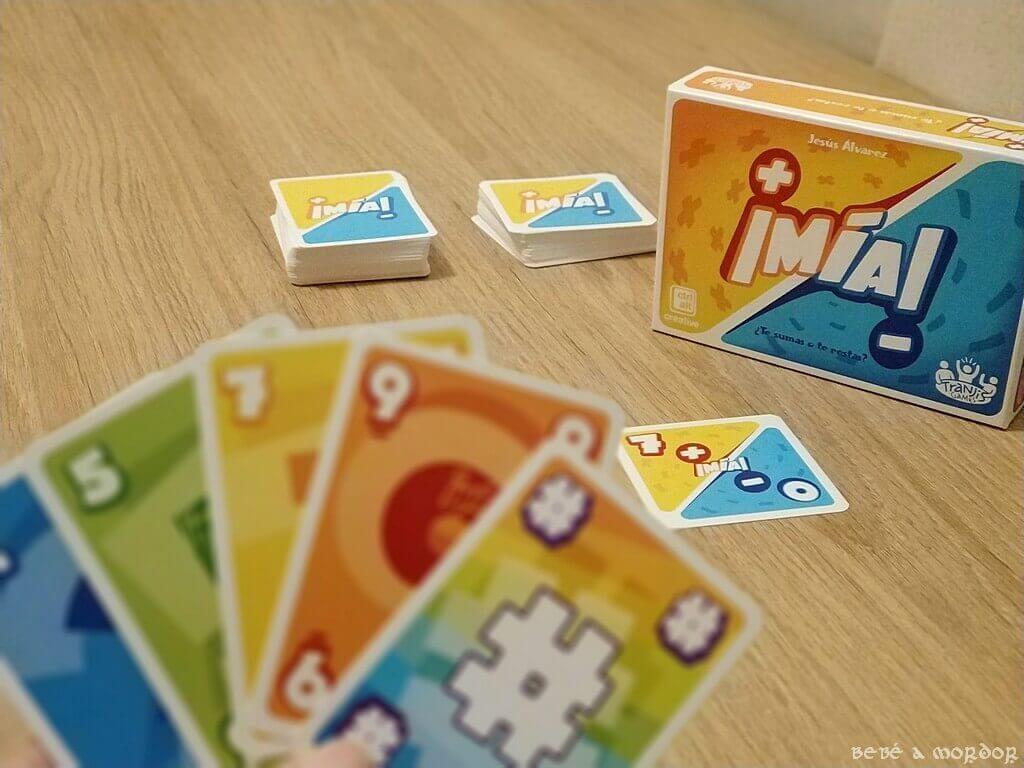 baraja de cartas juego de mesa ¡Mía! mazos