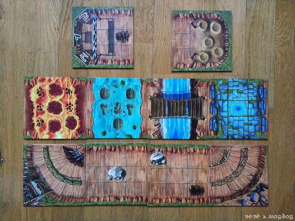 escenarios y terrenos especiales juego de mesa Banjooli Xeet