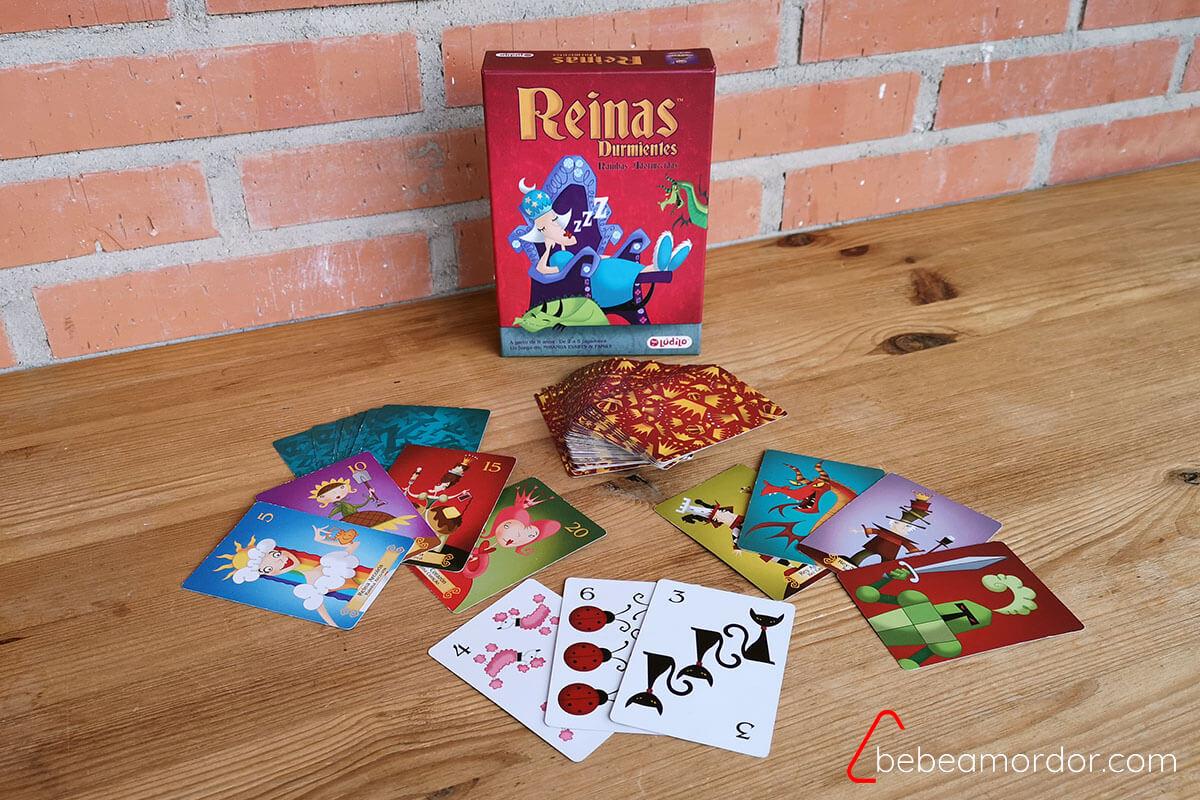 Componentes del juego de mesa Reinas Durmientes
