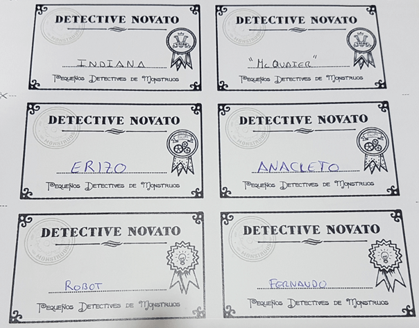carnets pequeños detectives de monstruos partida vivo