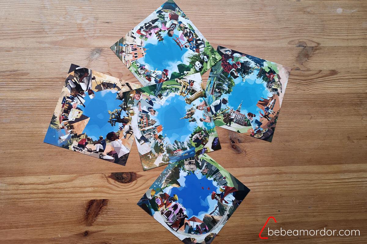 Las cinco fotografías diferentes de Globe Twister
