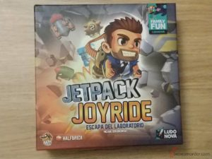 portada caja juego de mesa Jetpack Joyride