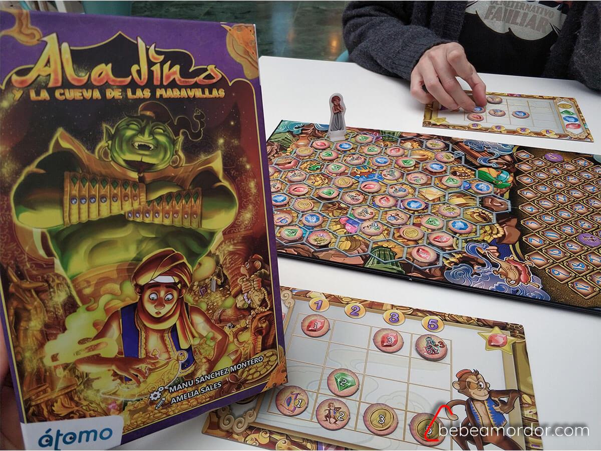 juego de mesa 6 años Aladino de Manu Sánchez átomo