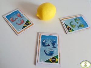 ¡Tres gambas medianas brasileñas! juego de mesa Shrimp