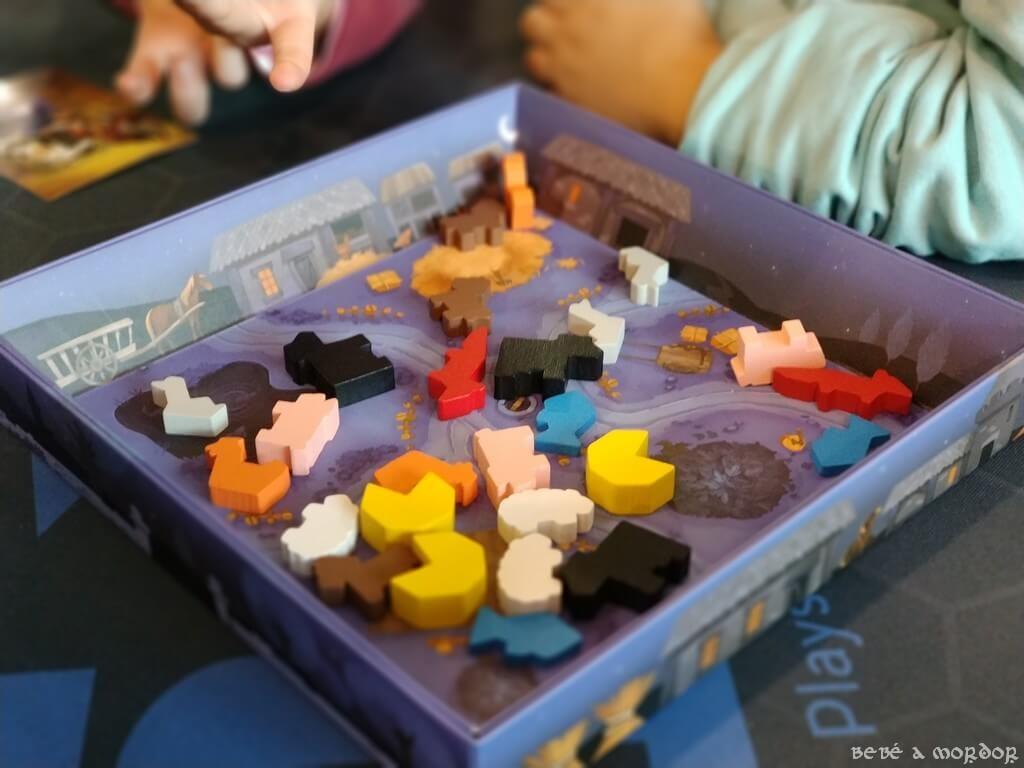 juego de mesa Zorros al Corral simplificado