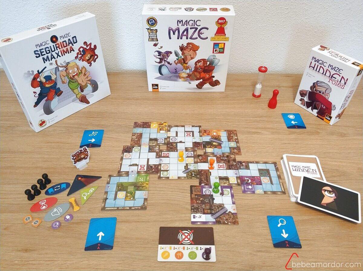 juego de mesa Magic Maze y expansiones