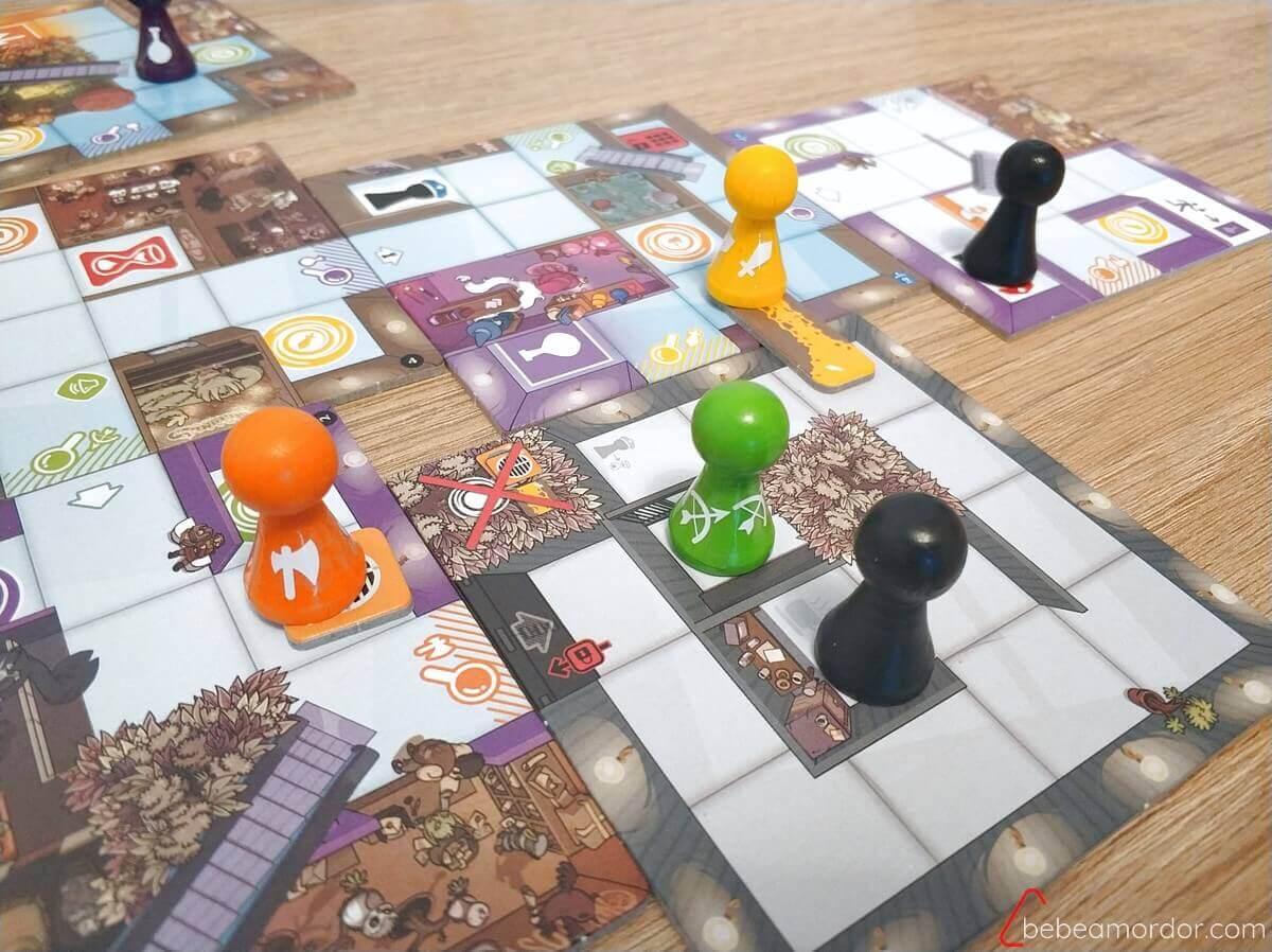 butrón y sala de guardia en expansión de Magic Maze: Seguridad Máxima