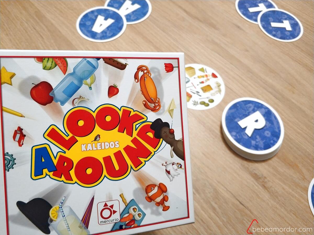 caja y cartas juego de mesa Look ARound