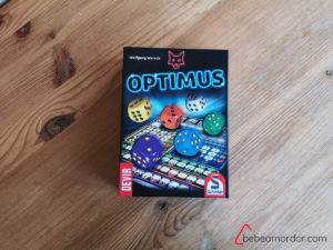 caja del juego roll and write optimus devir