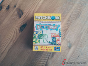 caja del juego de mesa Patchwork Doodle Maldito