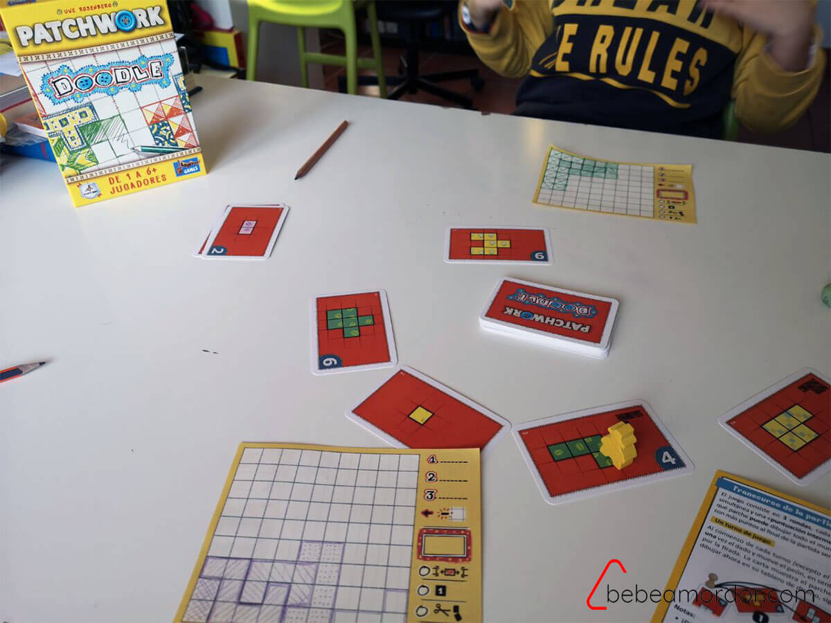Partida de Patchwork Doodle juegos roll and write