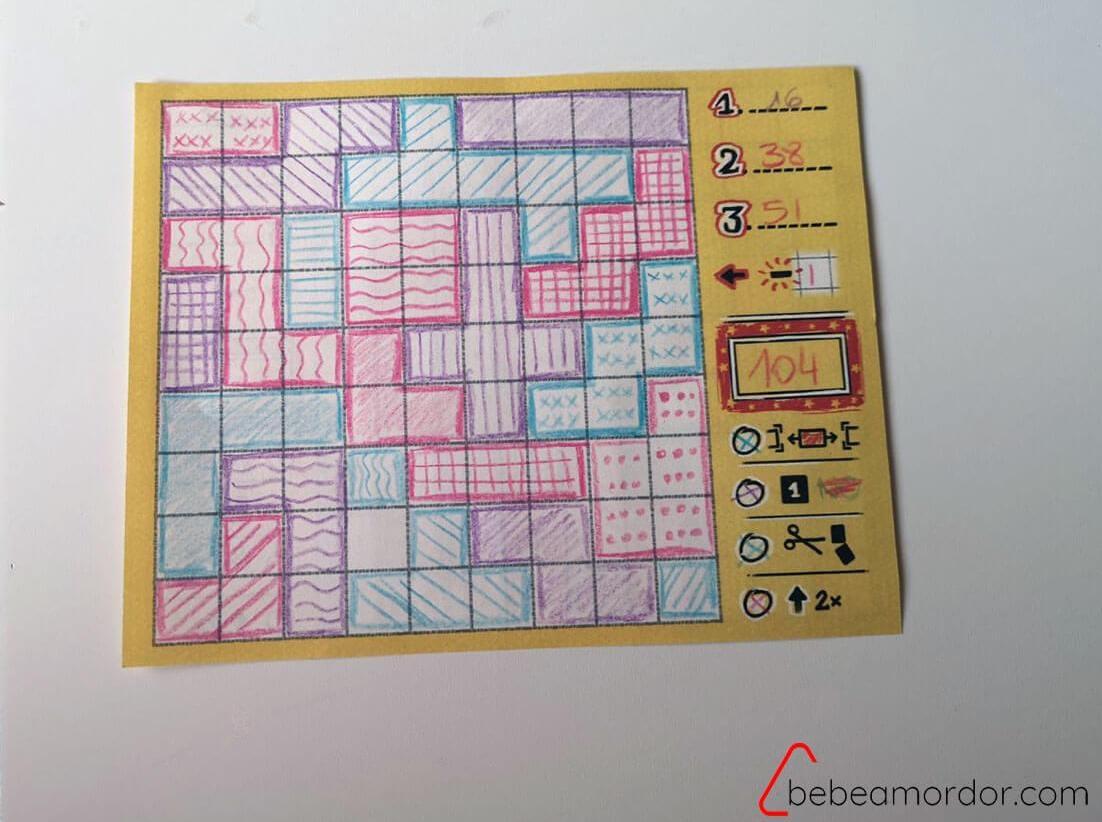 composicion juego de mesa Patchwork Doodle