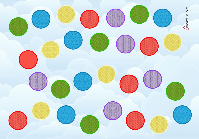 carrera de colores juego gigante hule