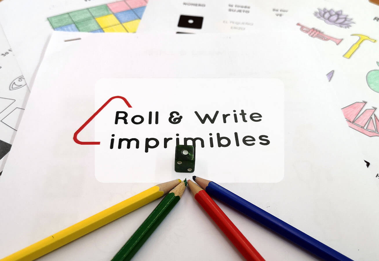 portada imprimibles roll&write gratis print and play