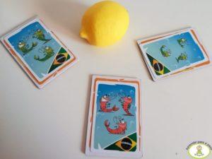 Tres gambas brasileñas en Shrimp juego de mesa