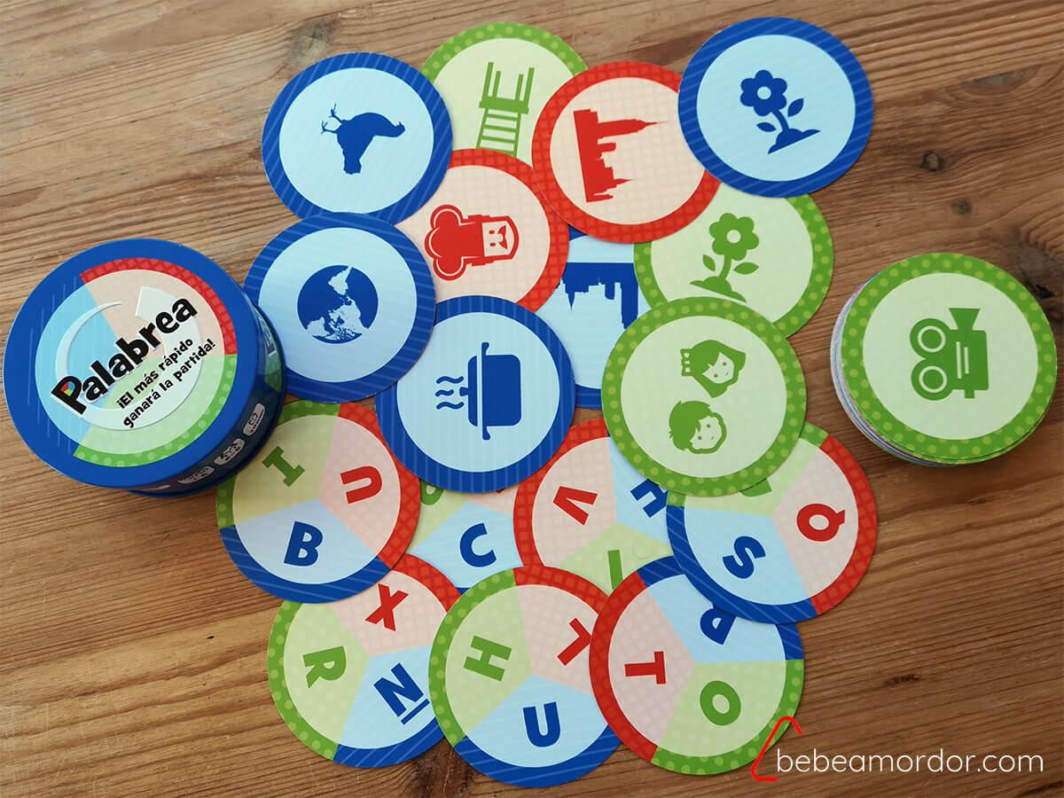 juego de mesa Palabrea de cartas
