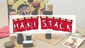 reseña cómo se juega al juego de mesa Maki Stack de Mercurio