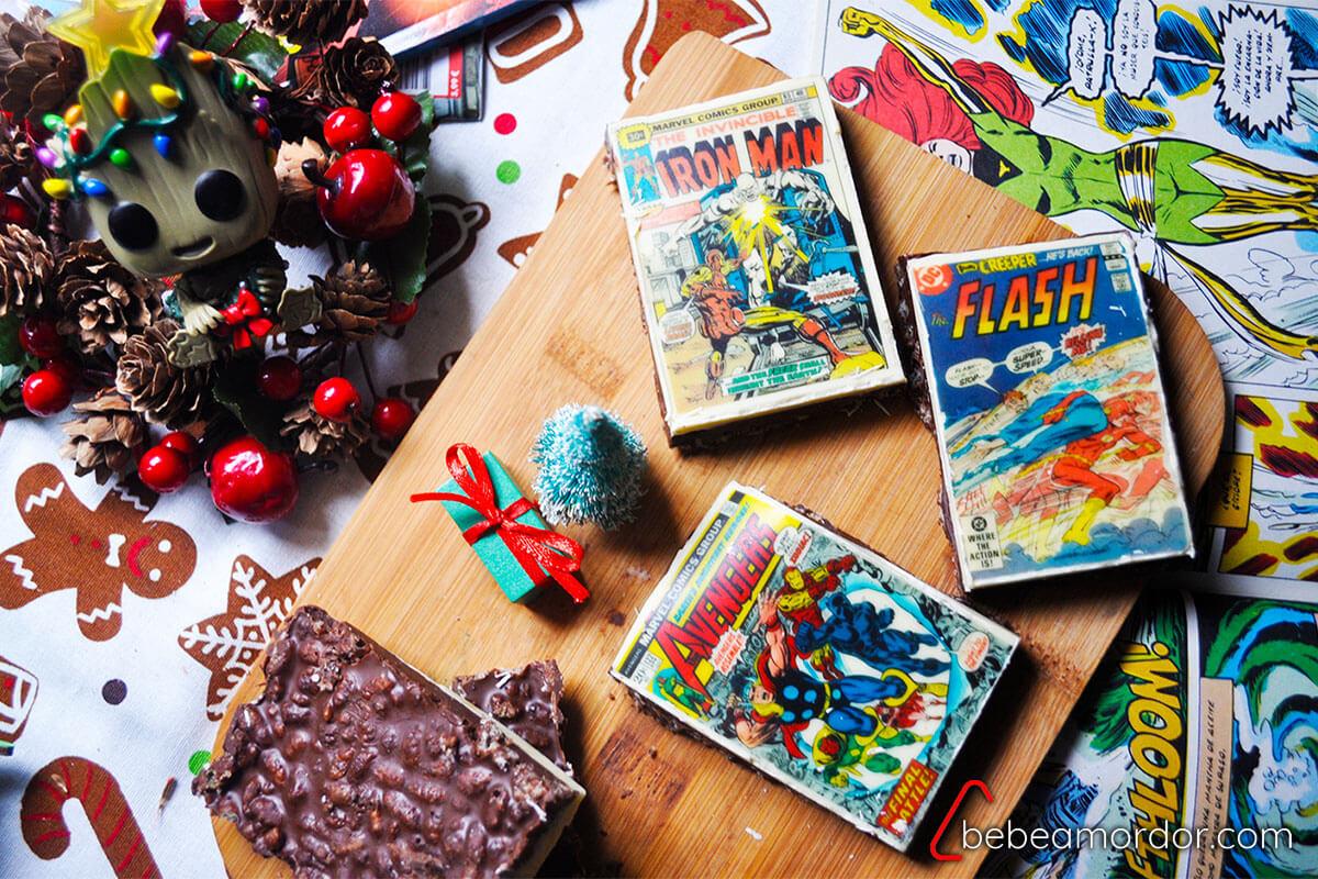 REceta friki de Navidad con turrones caseros de cómics