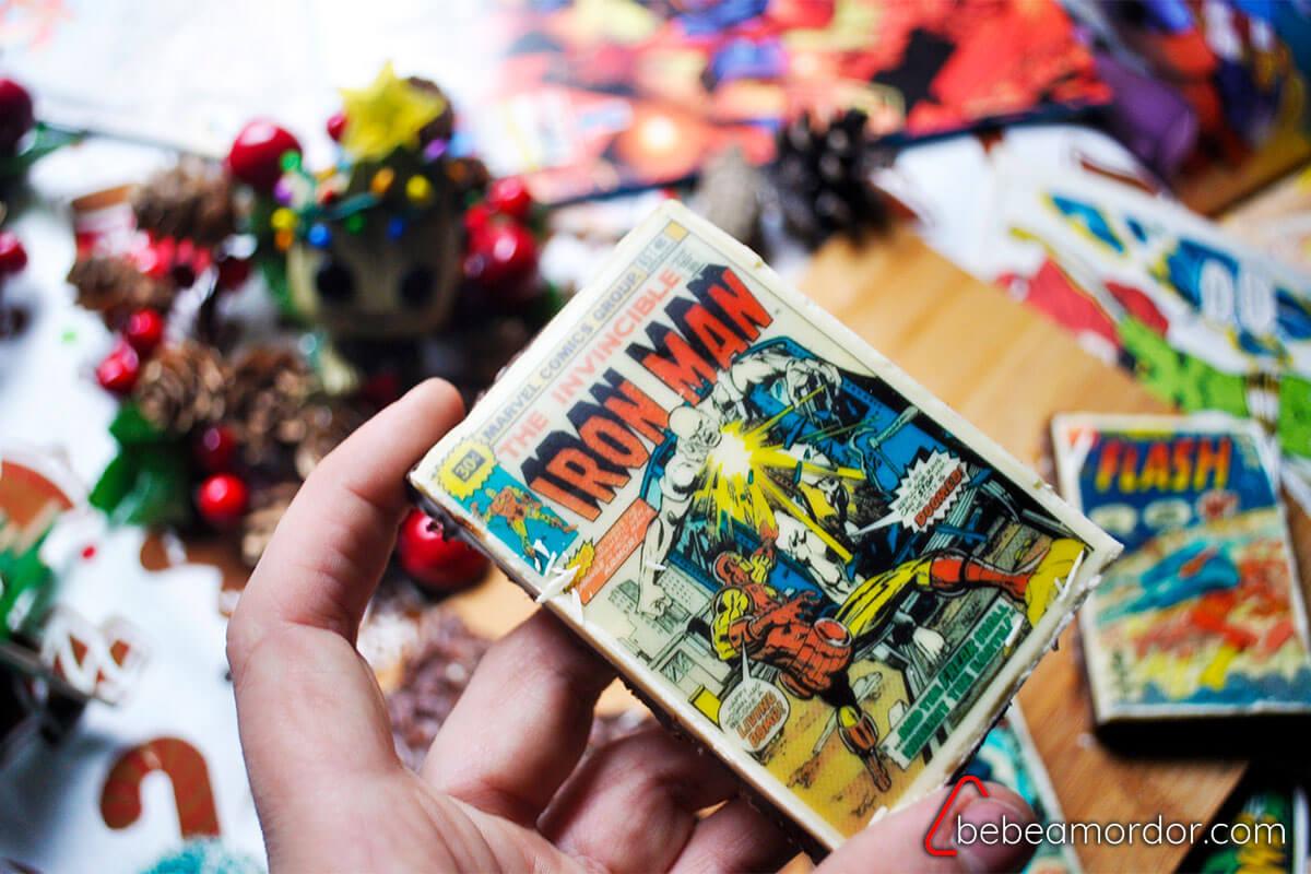 receta friki de Navidad con turrones de superhéroes