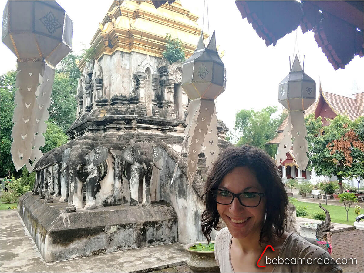 selfie en el templo Chiang Man