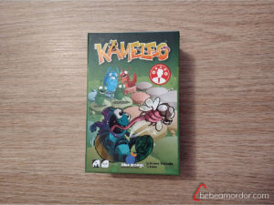 portada caja juego de mesa Kameleo.
