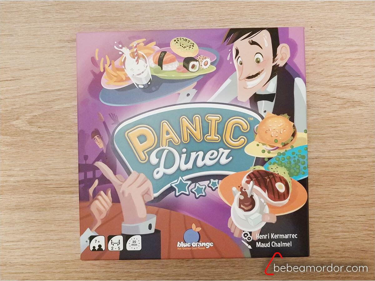 portada caja juego de mesa Panic Diner.