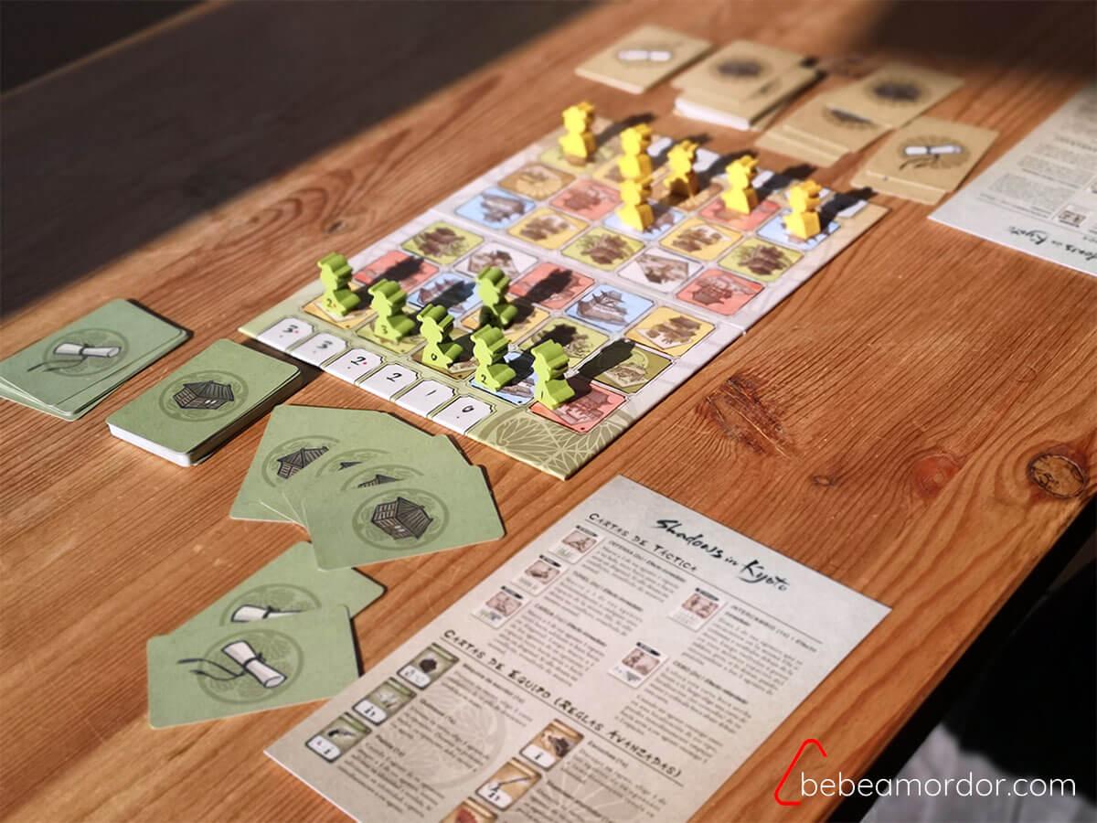preparación del juego Shadows in Kyoto