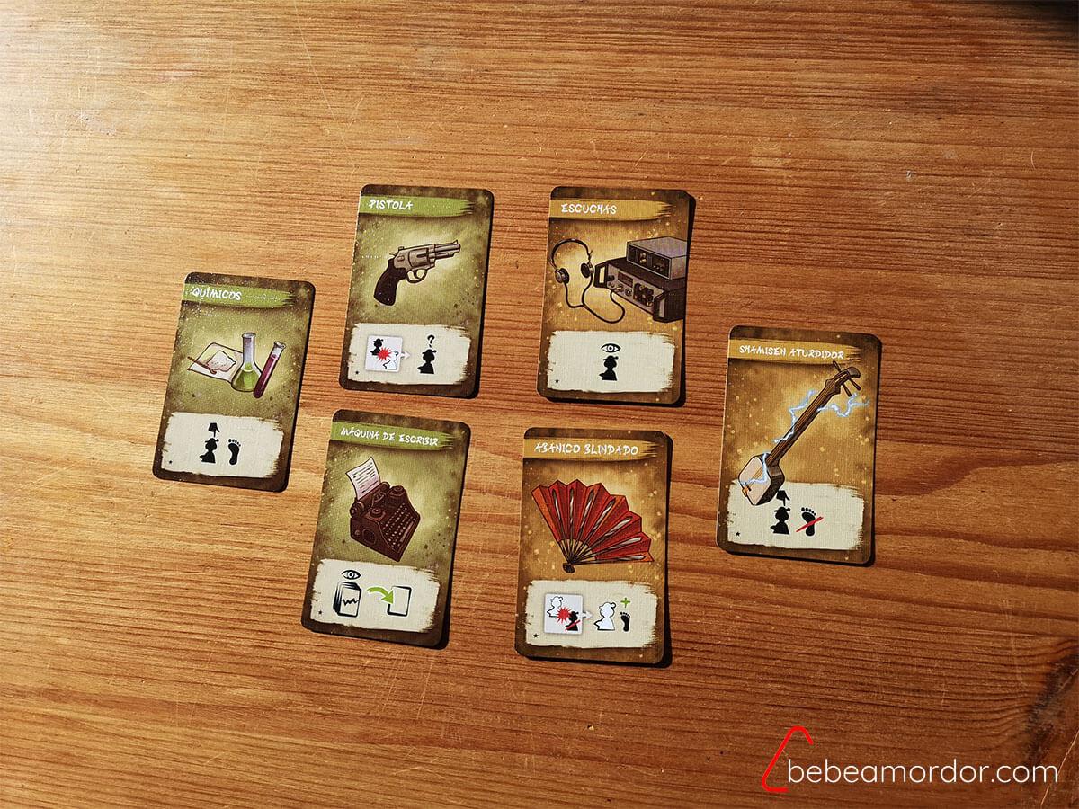 Las 6 cartas de equipo.
