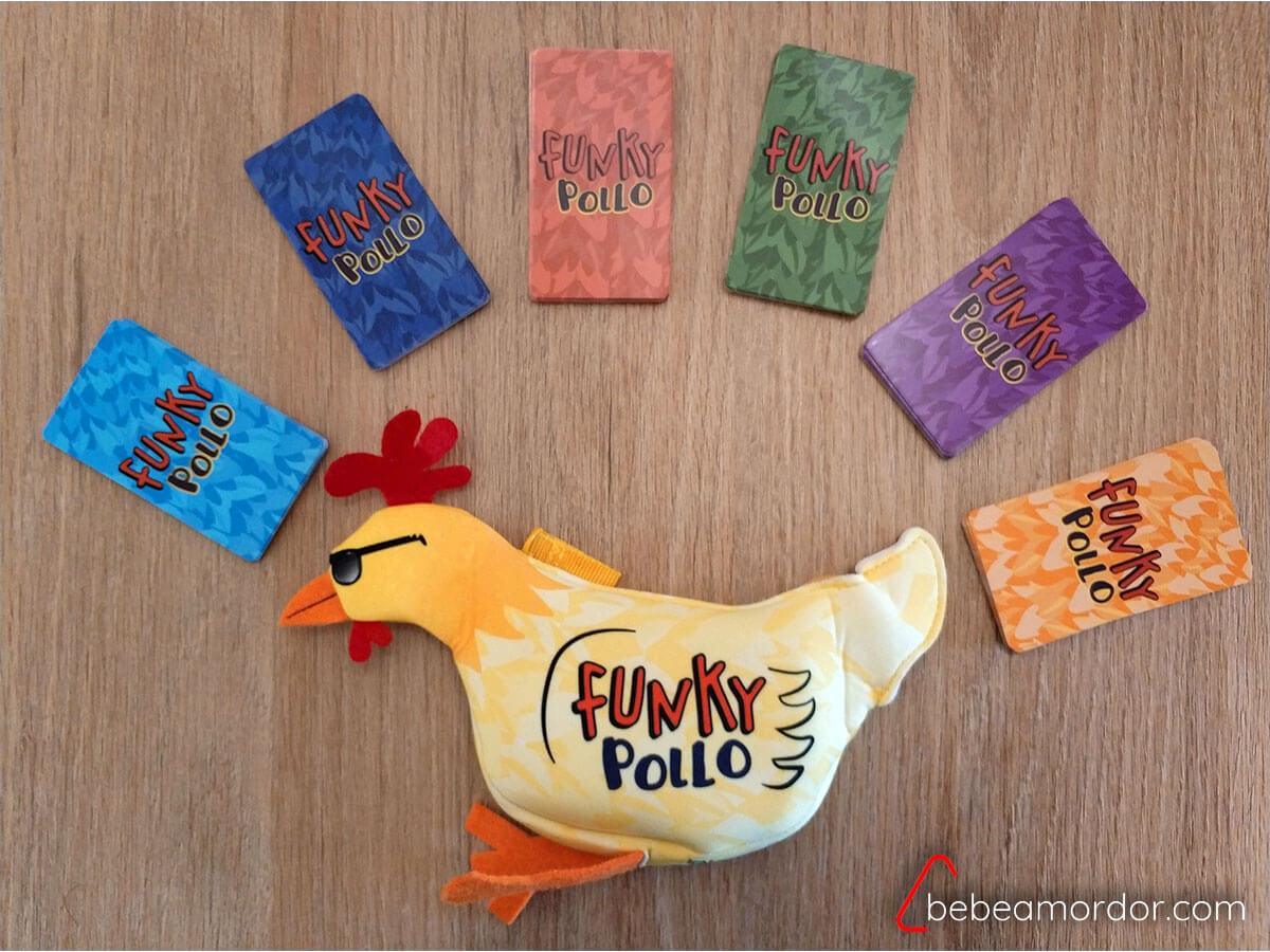 preparación de cartas de Funky Pollo