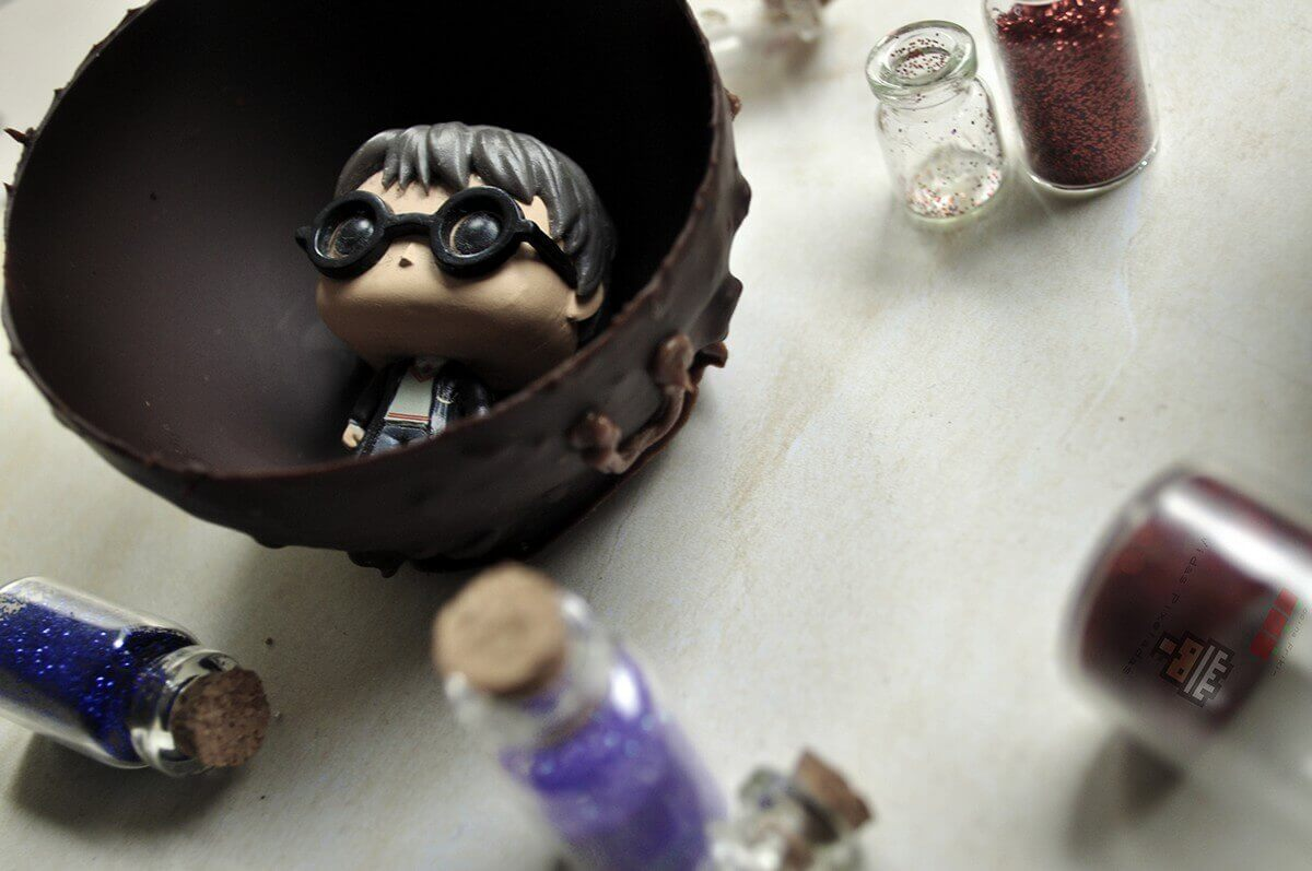 como hacer caldero de chocolate de Harry Potter cocina friki