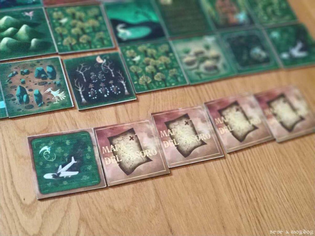secuencia pistas mapa del tesoro