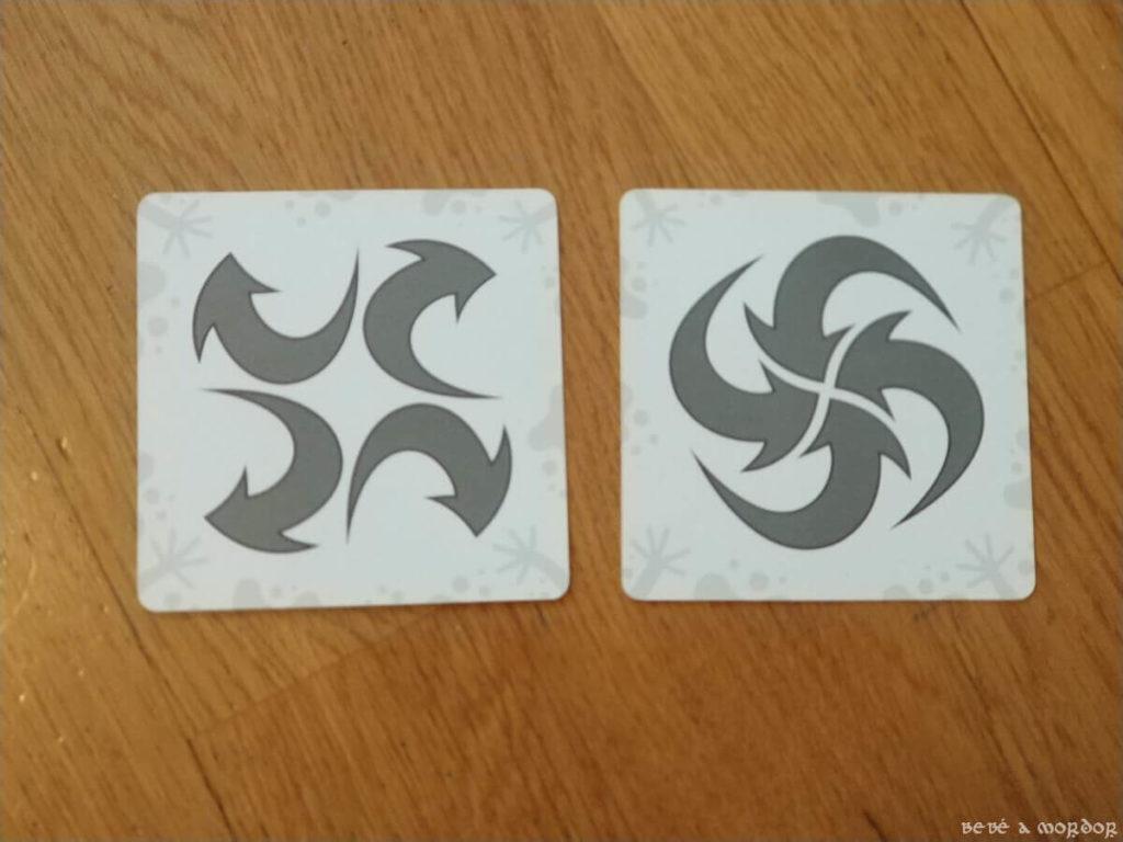 carta flechas hacia fuera y hacia dentro de versión Skwak del juego de mesa Jungle Speed