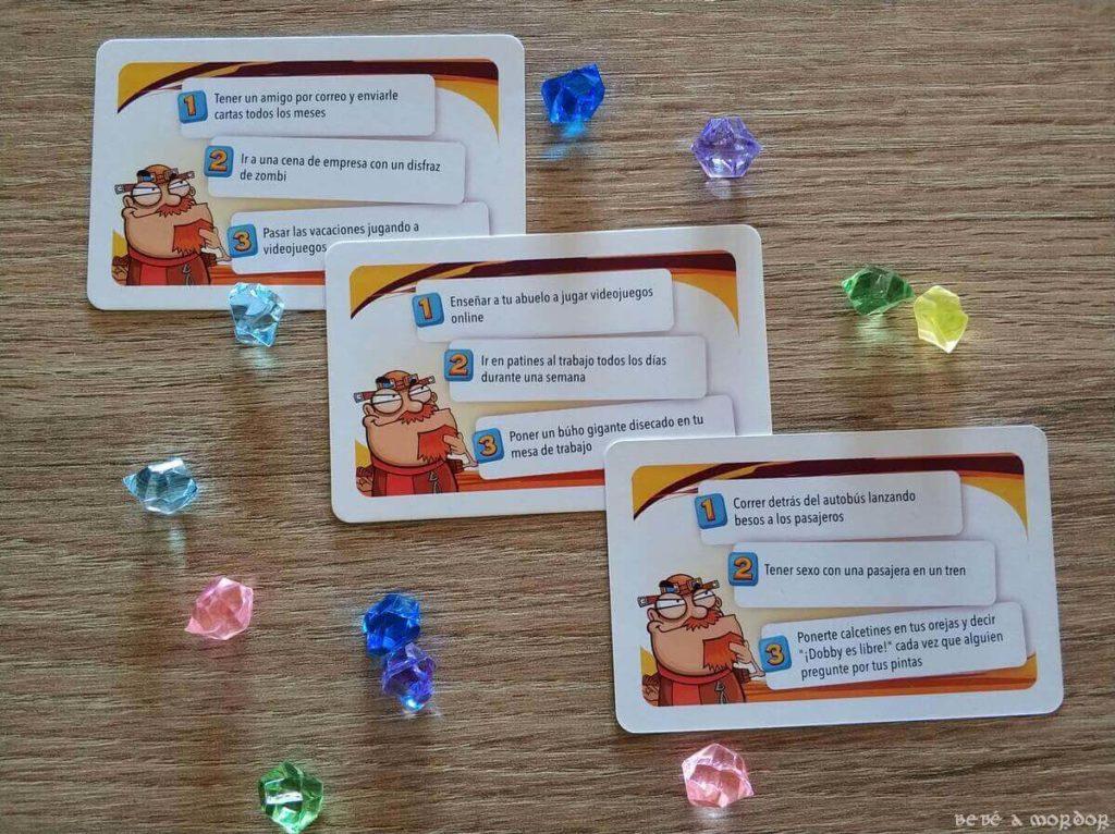 cartas juego de mesa 450 cosas que hacer en tu vida
