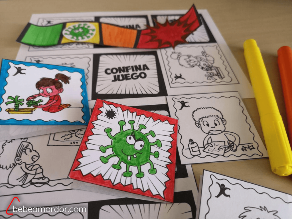 Cartas Coloreadas confinajuego.