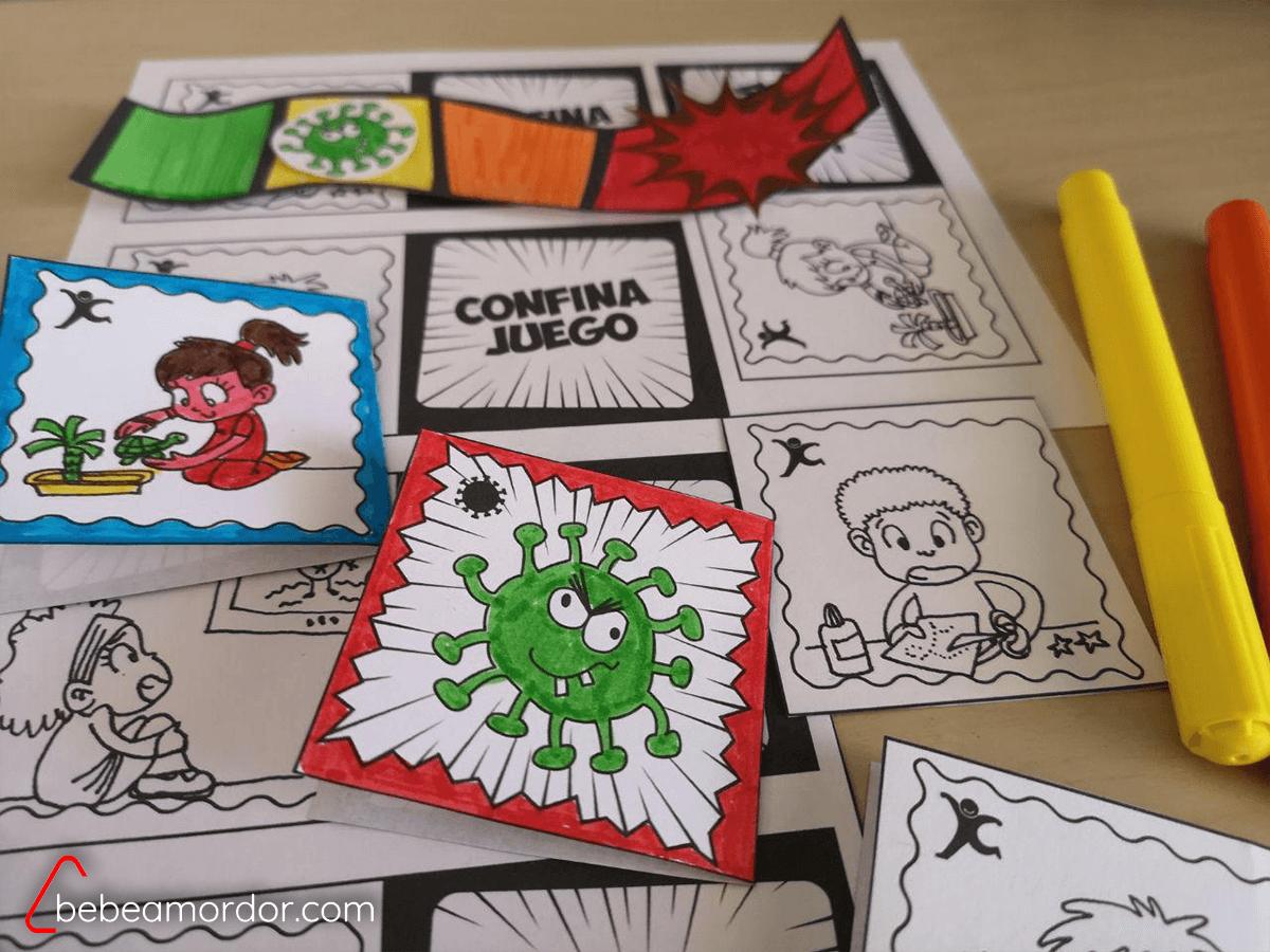 Cartas Coloreadas confinajuego.