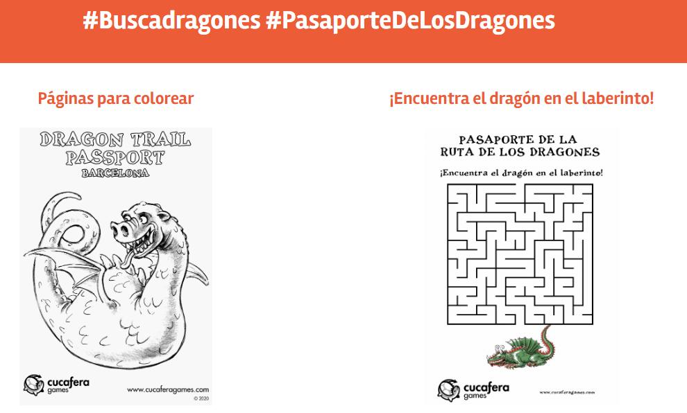 Cucafera Dragones imprimibles actividades para niños gratis