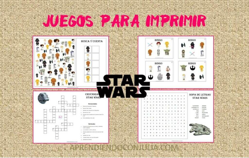 juegos y pasatiempos imprimibles gratis de Star Wars para niños