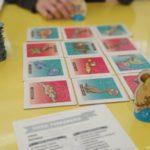 versión propia del juego de mesa Dino Path de Ludia Asesoras