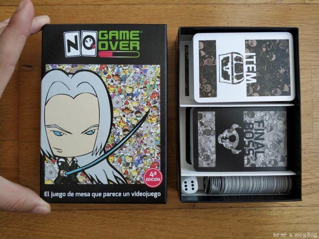 caja abierta de No Game Over tamaño pequeño