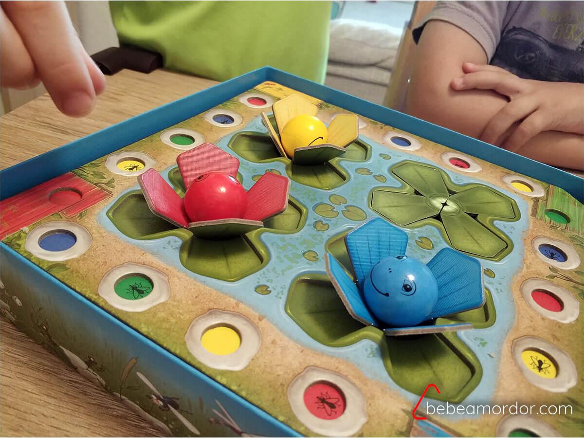 Ranas Saltarinas de Haba. Juegos de mesa desde 3 años.