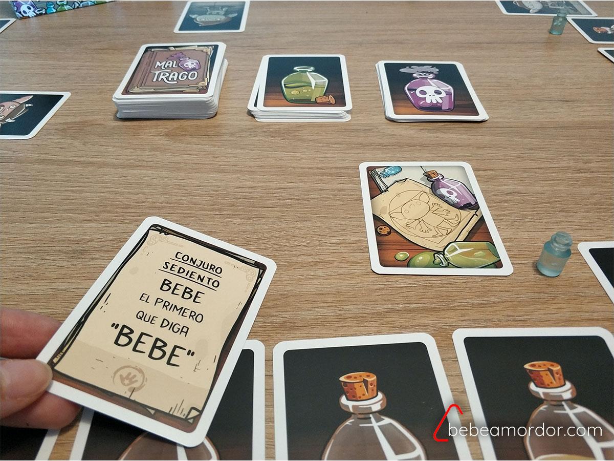partida juego de mesa Mal Trago
