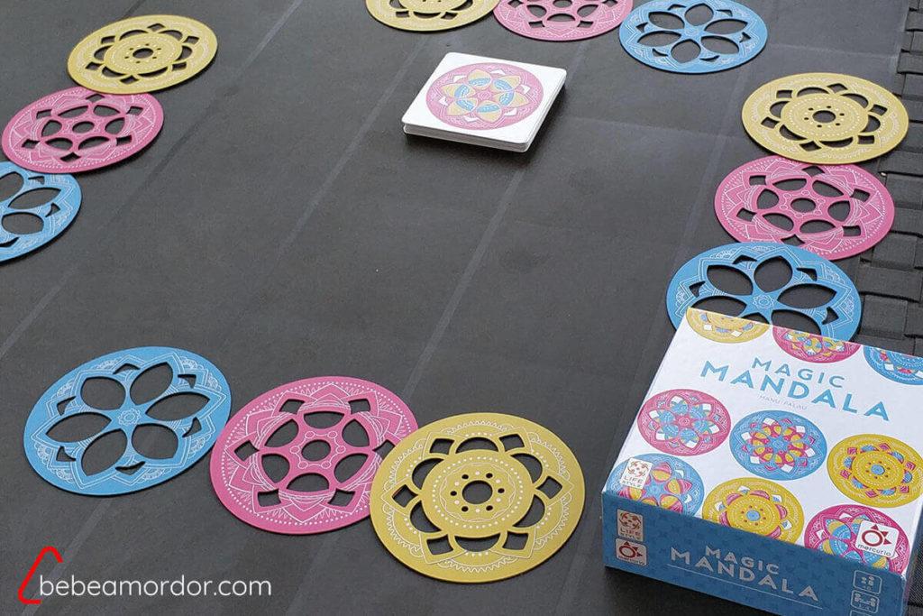 preparación juego separando discos