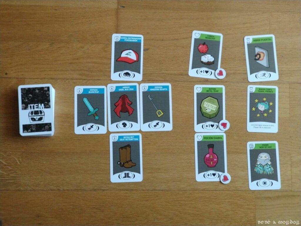 Tipos de cartas de Item