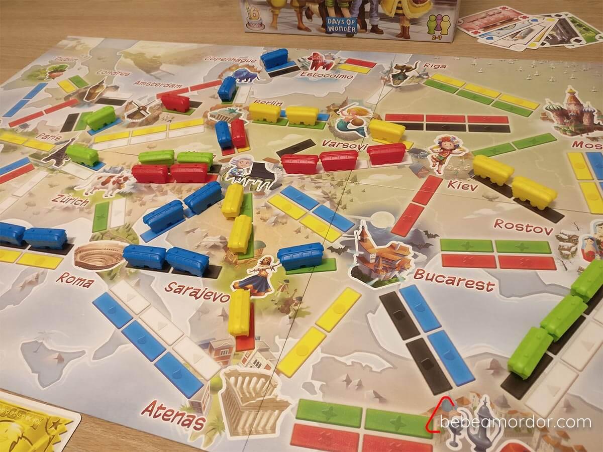 Mecánicas de juegos de mesa 6 años infantiles y familiares. Aventureros al Tren.