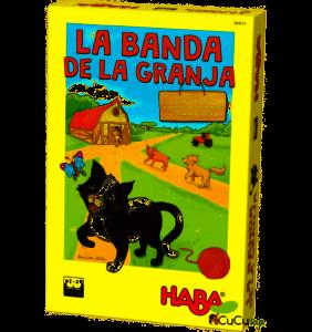 caja juego de mesa cooperativo 4 años La Banda de la Granja