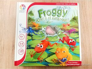Caja juego de mesa Froggy ¡cruza el estanque! Smart Games.