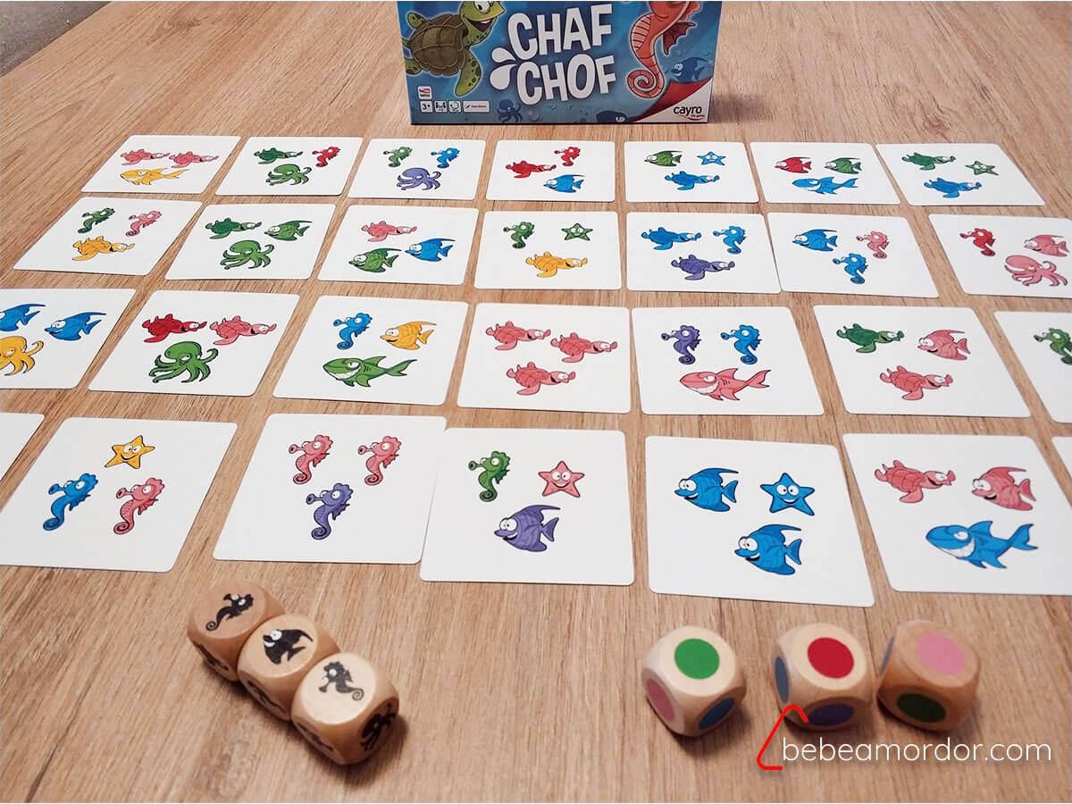 Preparación juego cartas
